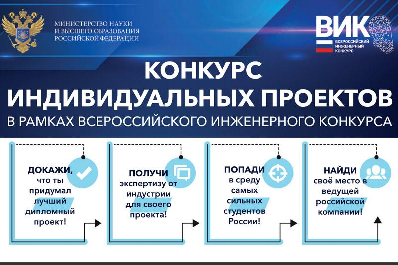 Конкурс индивидуальных проектов в рамках VI Всероссийского инженерного конкурса