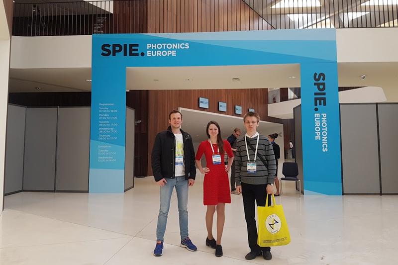 Студенты и аспиранты ВШ на конференции SPIE Photonics Europe